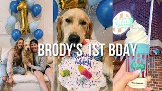 VLOG: Brody&#39s 1st Birthday, Presents, Cake + Ice Cream!