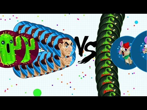 Agar.io - TRICKSPLIT VS CANNONSPLIT // GAMEPLAY WITH 9999 BOTS // AFTER PATCH