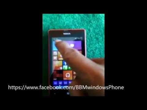 Test BBM windows phone LUMIA 520