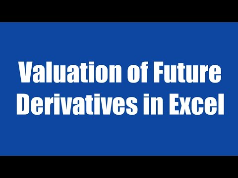23.2: Valuation of Future Derivative in Excel