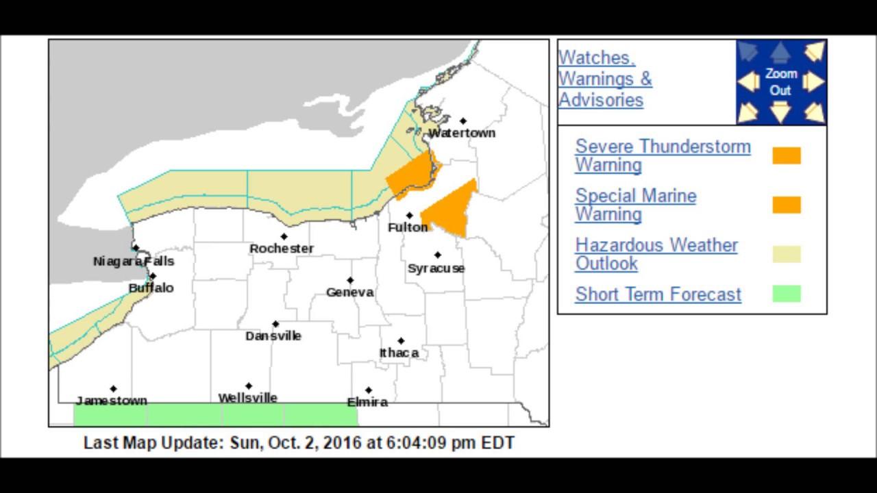 New york oswego county parish - Severe Thunderstorm Warning In New York 10 2 16