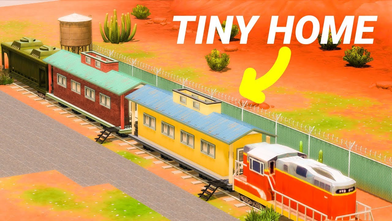 Tiny House inside of a Train! (Sims 4) thumbnail