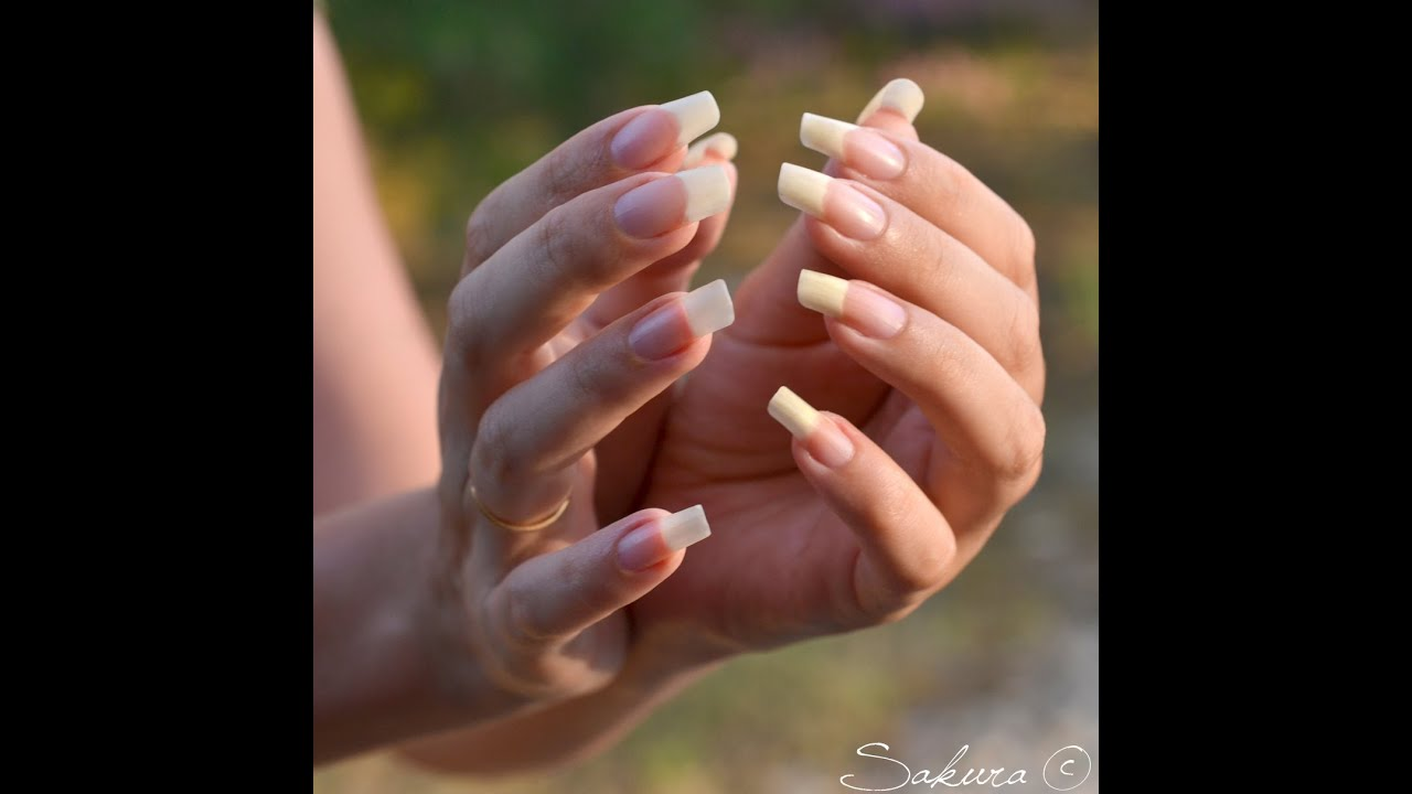 ONGLES NATURELS LONG NAILS - YouTube