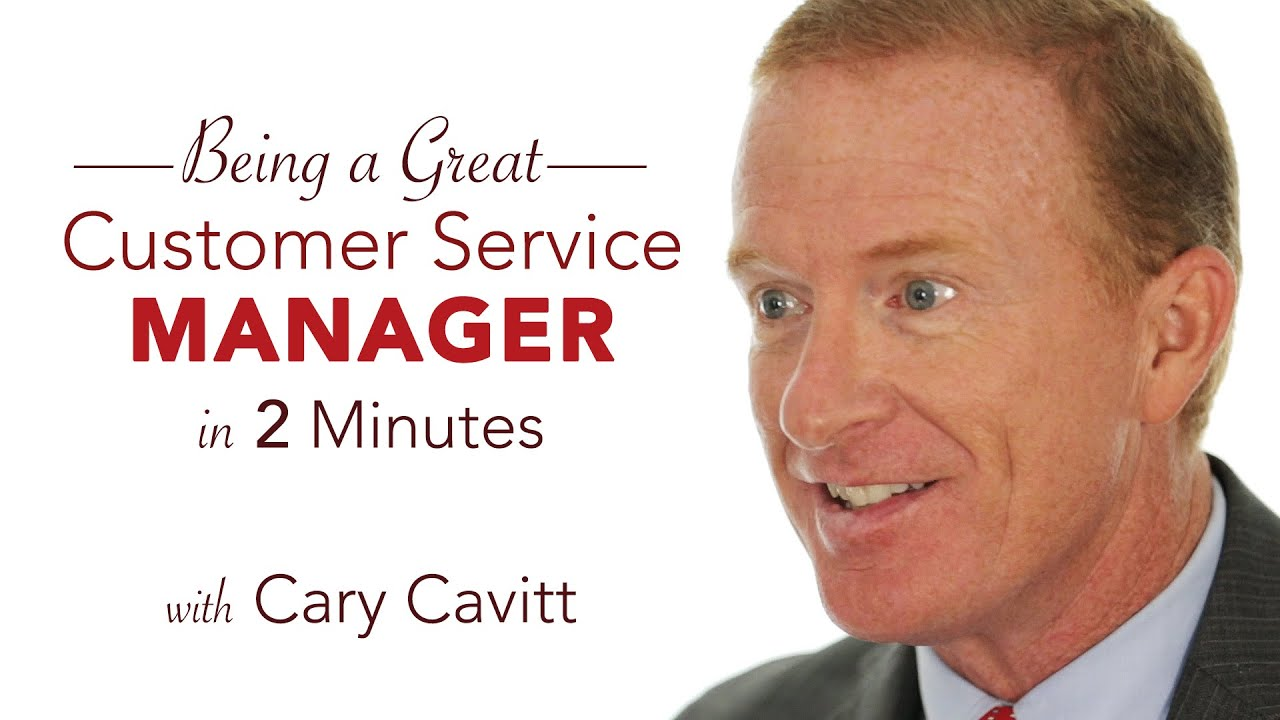 customer service training be a great service manager in 2 minutes