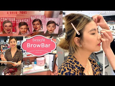 Sephora BENEFIT BROW BAR Experience | How They Wax | Boi-ing Concealer | Brow Mapping | Pearl Yao