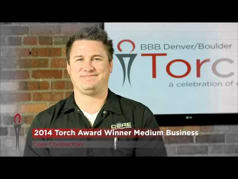 2014 Torch Awards for Marketplace Trust - Medium Business Winner - Core Contractors