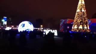 Новый 2017 год в Самаре, new year in sity Samara (лазерное шоу на пл. Куйбышева)