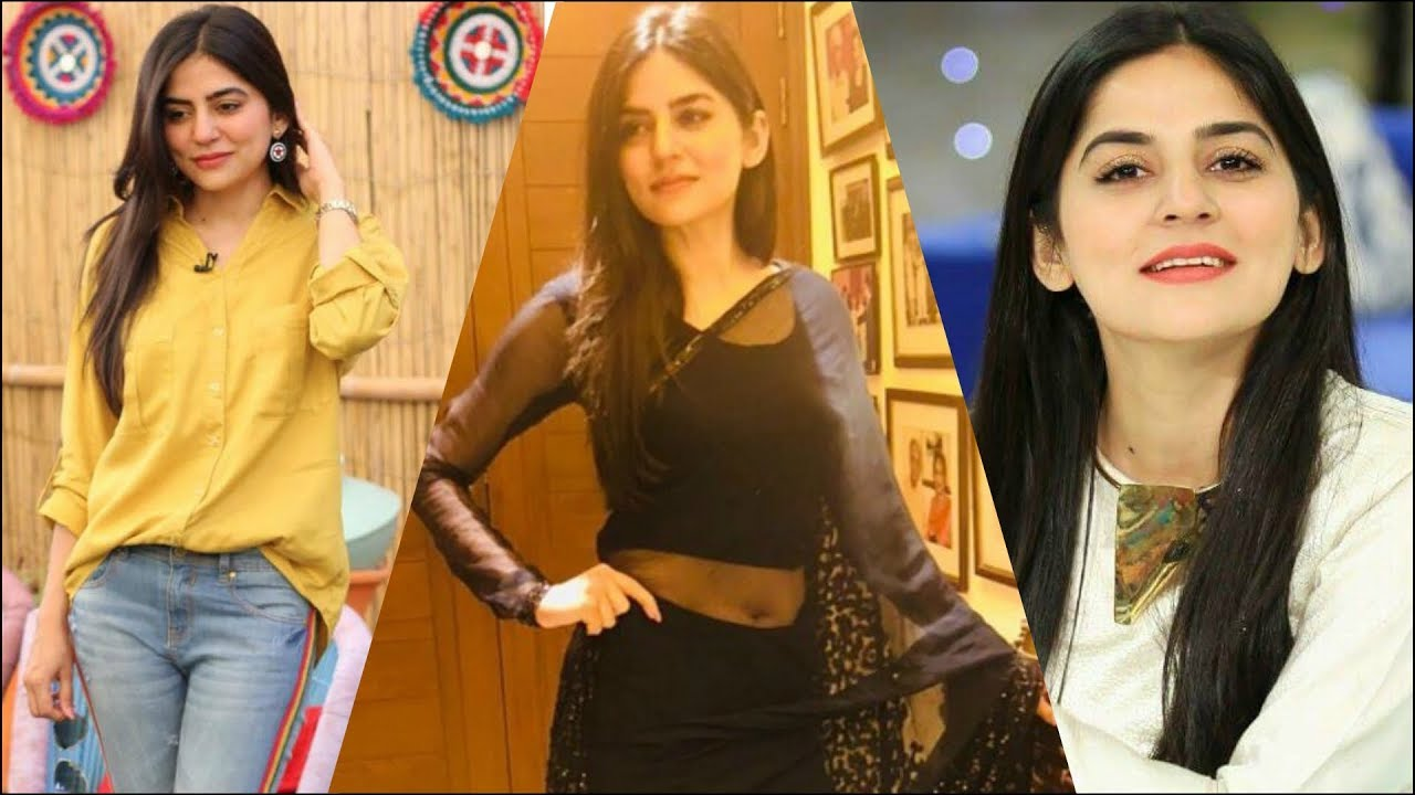 Sanam Baloch Pakistani Host and Actress Cute and beautiful Collection   Rare Navel Show