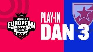 EU Masters Sezona 2 - CZV vs Mousesports | CZV vs Enclave - Play-In Dan 3