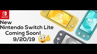 New Nintendo Switch Lite - Coming Soon! - Release Date 9/20/19