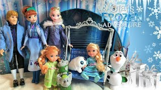 Frozen 2 Dolls Olaf's Frozen Adventure Festive Friends Collection! Anna and Elsa Kristoff Olaf Toys