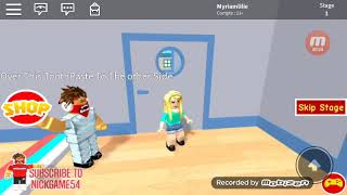 Roblox game and also I did not tell you my nickname Roblox my nickname is Myriamlilie