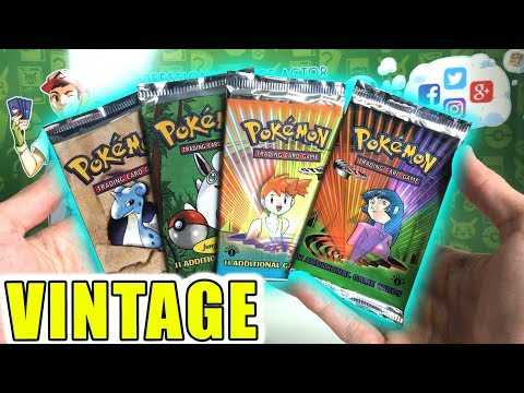 OPENING RARE POKEMON 1ST EDITION BOOSTER PACKS! (VINTAGE)