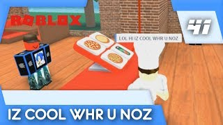 IZ COOL WHR U NOZ   Let's Play Roblox Part 41 (Work At a Pizza Place w/ Aremin)