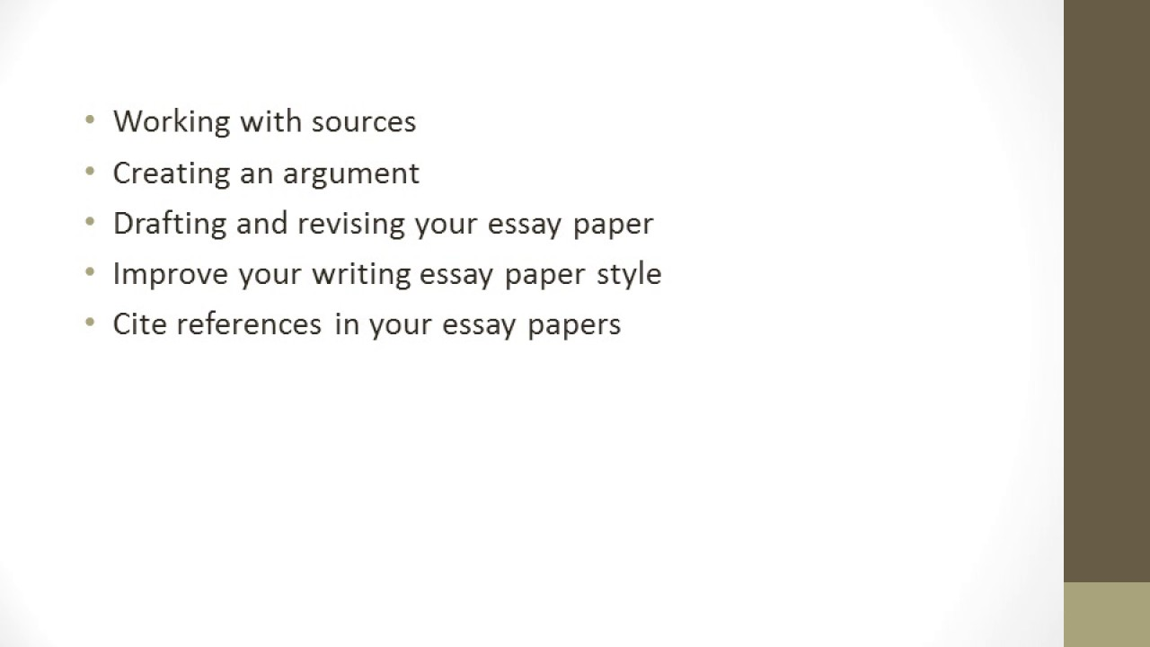 Help With Writing Essay Papers  Youtube Help With Writing Essay Papers