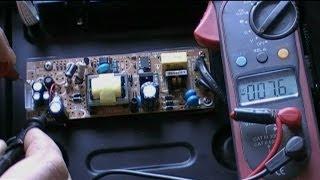 Ремонт блока питания DVD плеера(Ремонт блока питания ДВД плеера Onn SW2411A-DIVX. При нажатии кнопки включения плеер никак не реагировал. Причиной..., 2014-03-14T16:41:20.000Z)