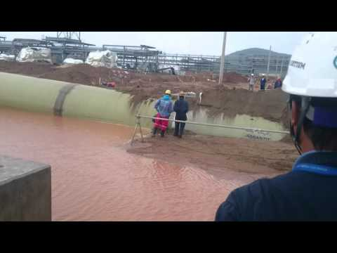 Floating GRP pipe