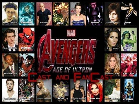 The avengers age of ultron cast fan cast youtube