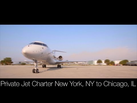 New York, NY to  Chicago, IL Private Jet Charter
