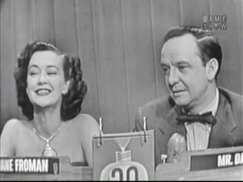 What's My Line? - Hal Block's final show - Jane Froman (Mar 1, 1953)