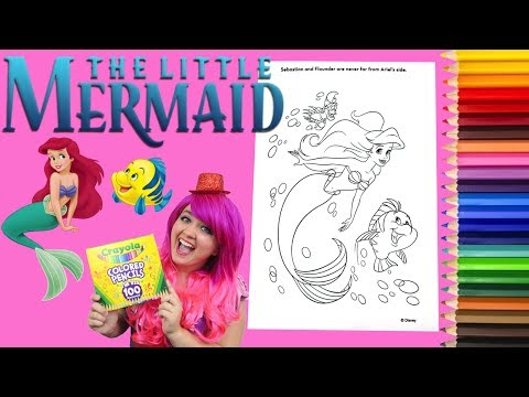 Coloring Ariel The Little Mermaid Disney Coloring Book Page Colored Pencil | KiMMi THE CLOWN