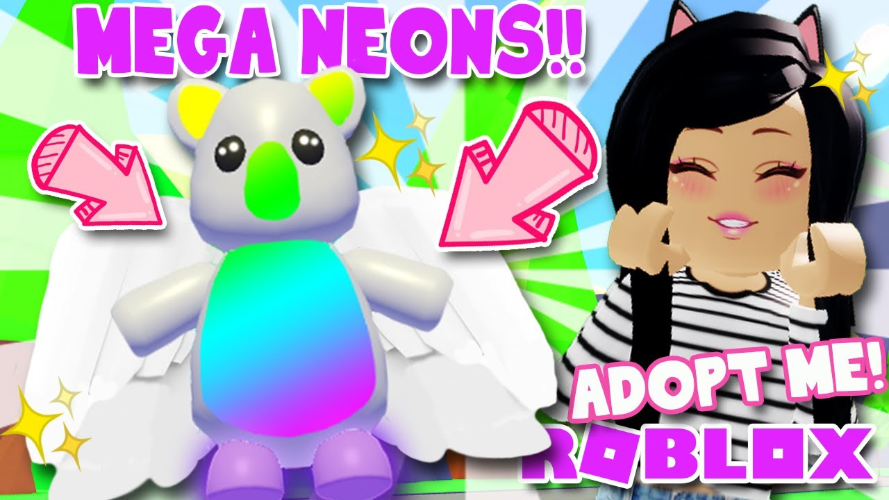 I Made A Mega Neon Pet In New Adopt Me Roblox Update Youtube
