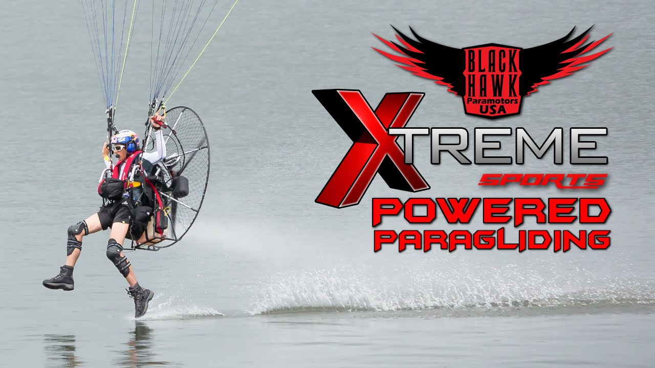 EXTREME-STYLE Powered Paragliding Video From BlackHawk Paramotor USA