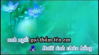 KARAOKE Nhung Dom Mat Hoa Chau (ft)