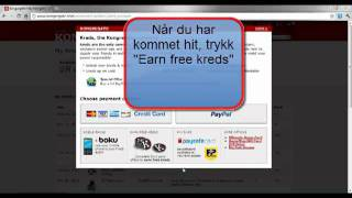 Repeat youtube video How To Get Free Kongregate Kreds (Norwegian)