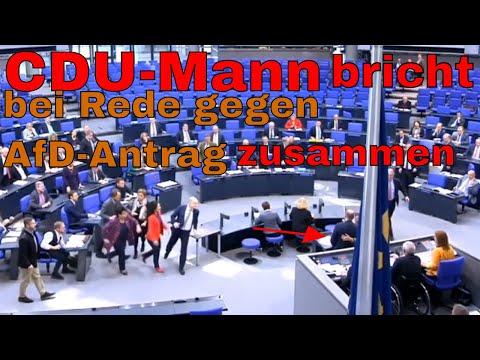 Matthias Hauer (CDU) bricht im Bundestag während seiner Rede zusammen
