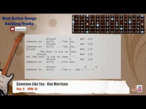 Someone Like You - Van Morrison Guitar Backing Track with scale, chords and lyrics