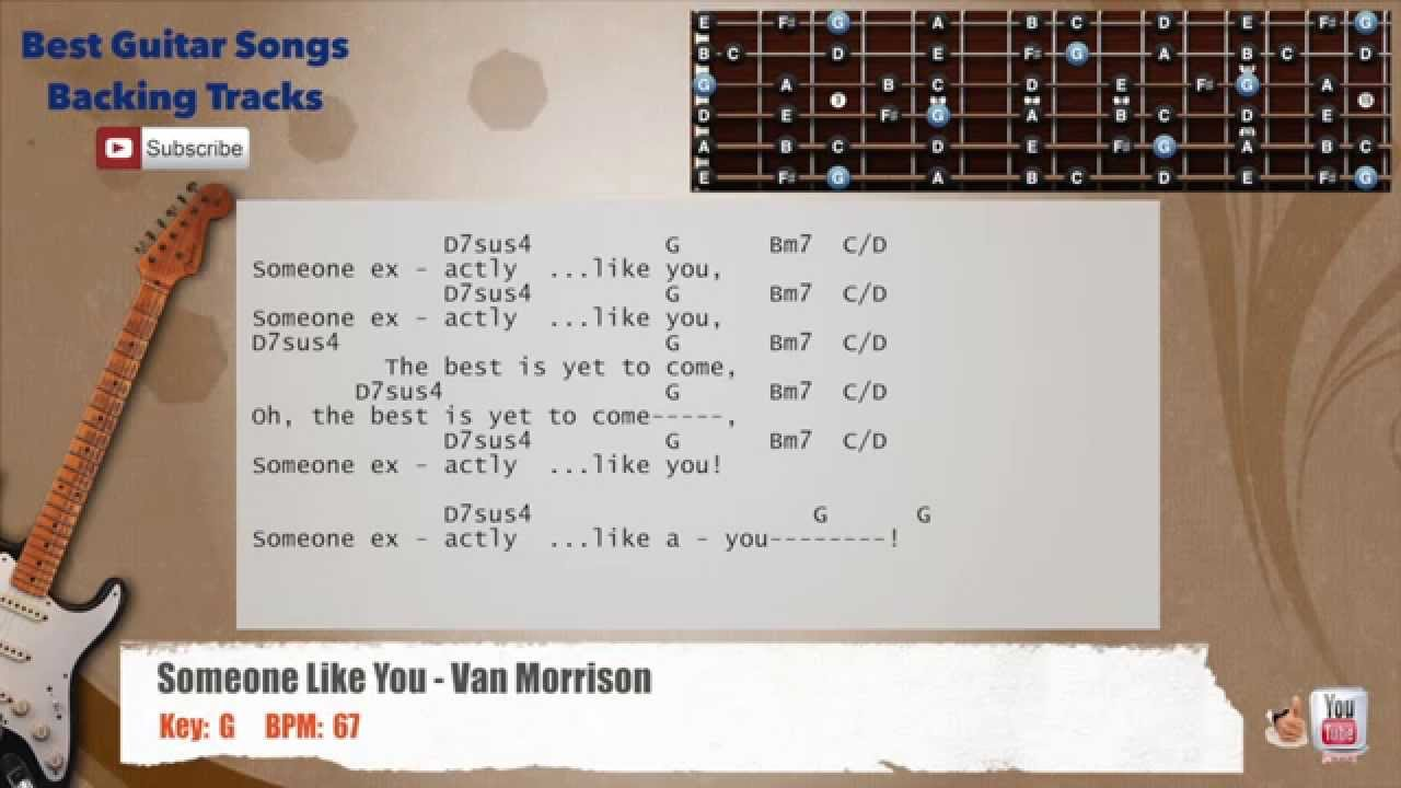 Someone Like You Van Morrison Guitar Backing Track With Scale