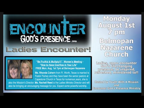 Radio promo for Encounter events in Belize