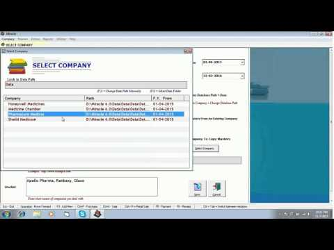 How to create Company in Miracle Pharma Software : www.solversolutions.in