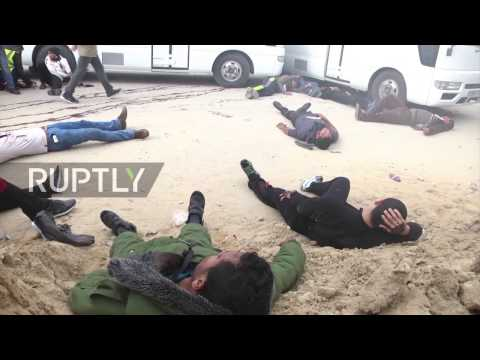 State of Palestine: Emergency service response drills carried out in Gaza