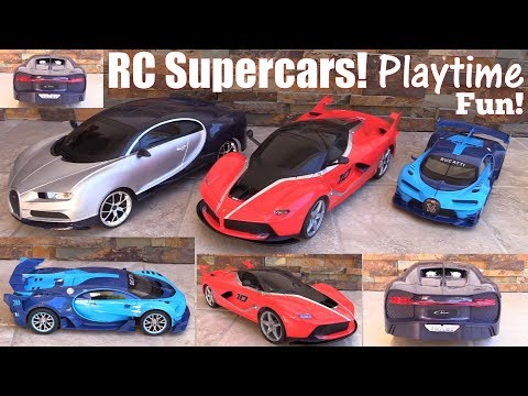 Racing TOY CARS: Remote Control Toy Cars, Ferrari FXX-K and Bugatti Vision GT and Bugatti Chiron