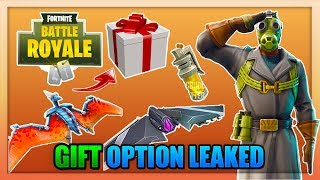 "*NEW* Fortnite: LEAKED ""GIFT OPTION"" AND MORE LEAKS! ALL NEW 3D DANCES + PTERODACTYL GLIDER & MORE!"