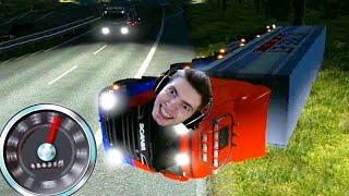 O ACIDENTE de NOITE!!! - Euro Truck Simulator 2 MP!!!