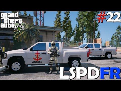 GTA V LSPDFR #22   MARINA ARMADA DE MÉXICO - CONTRA LA DELINCUENCIA   TheAxelGamer