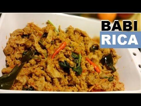 Resep Babi Rica Babi Woku Enak Delicious Rica Pork Recipe