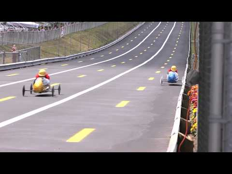 Soap Box Derby crash. Best Wipeout ever