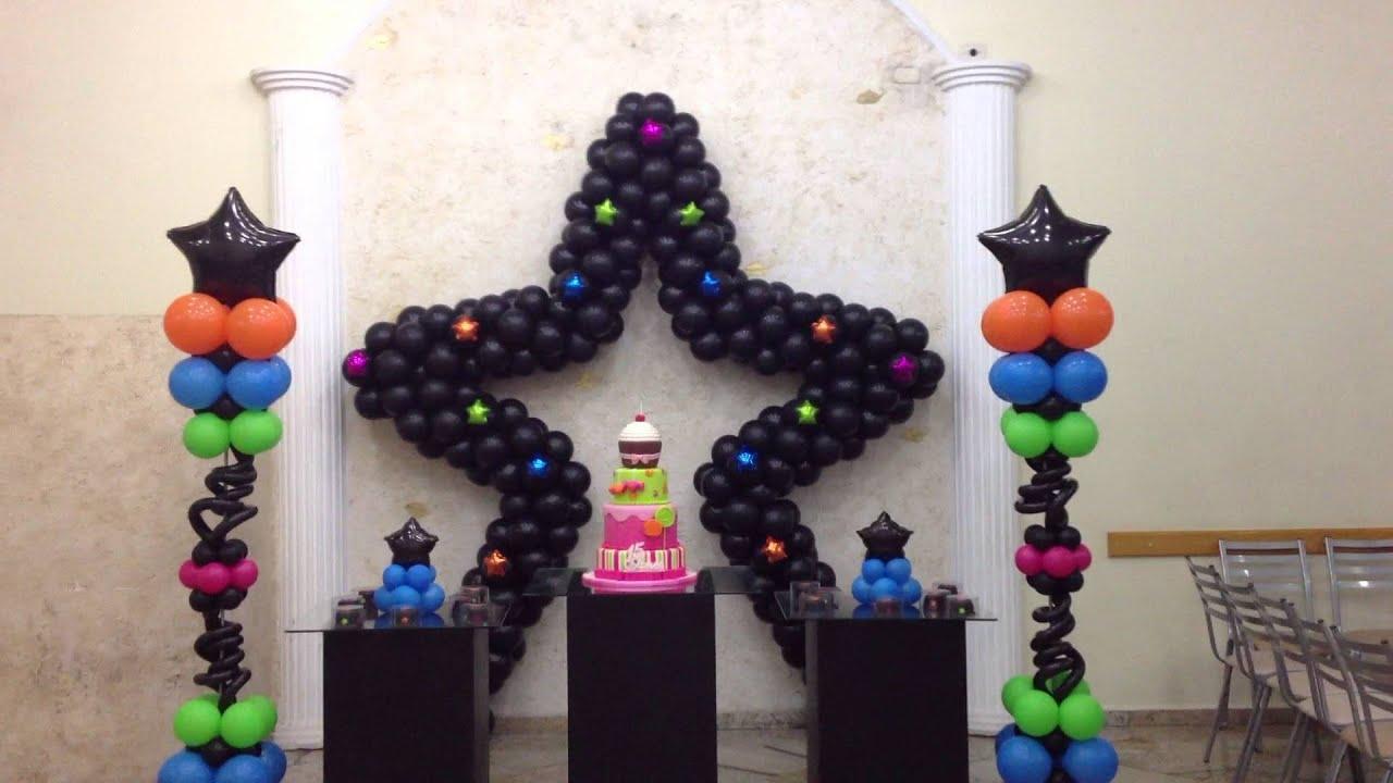 Decoracao De 15 Anos: Decoração De Balões Festa Teen