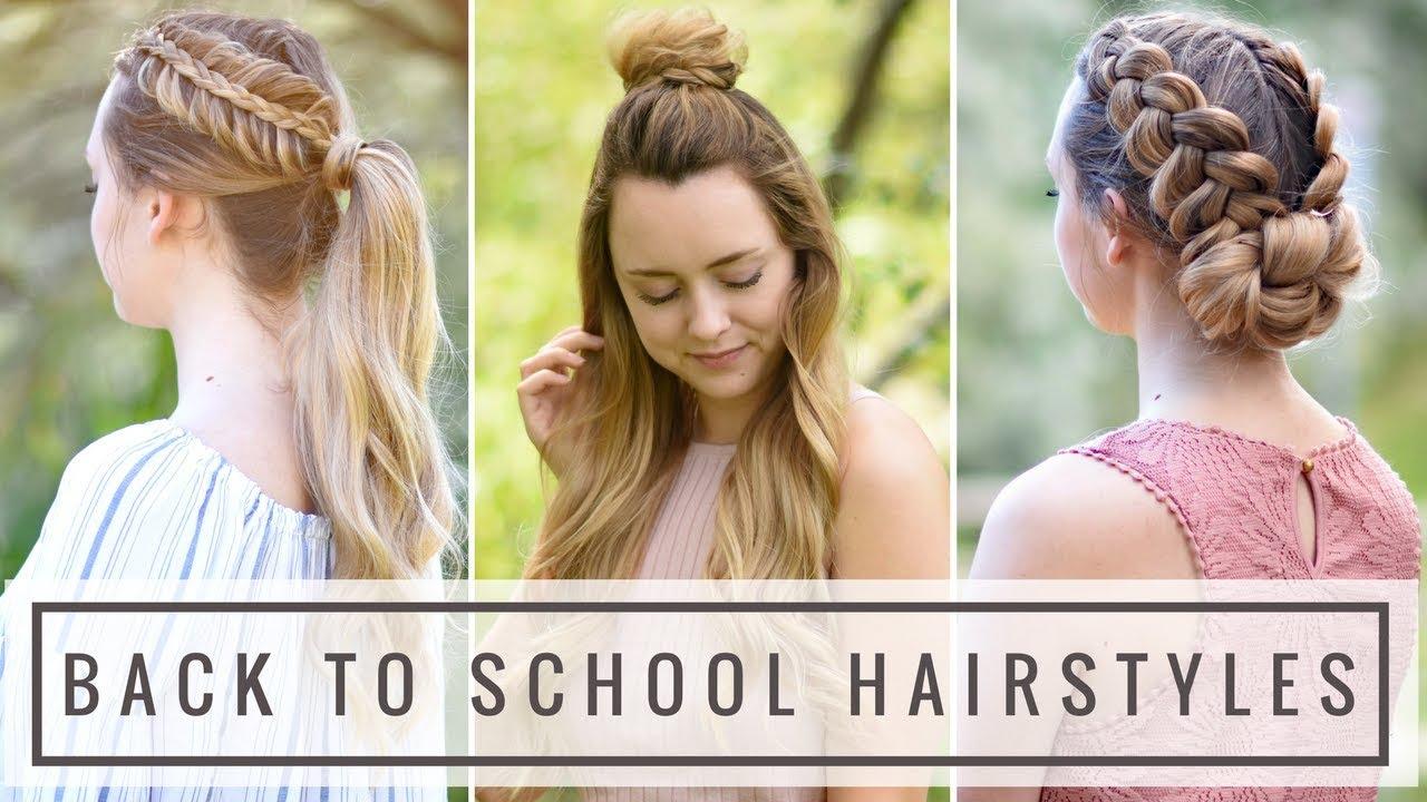 Easy Heatless DIY Back To School Hairstyles Braids By Jordan - Diy hairstyle knotted milkmaid braid