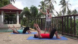 Пилатес для начинающих   подготовка к Single Leg Stretch