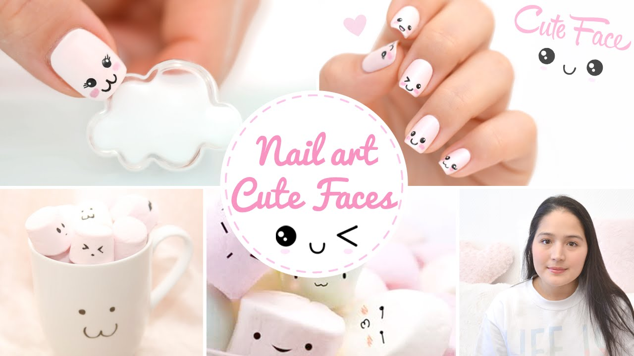 Nail art Kawaii Japan Expo ♡ Cute faces かわいい - YouTube