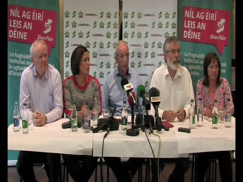 Sinn Féin leaders support for Bobby Storey at Press Conference