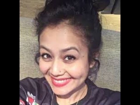 Neha Kakkar Singing Without Music -  Chand Chupa Badal Mein