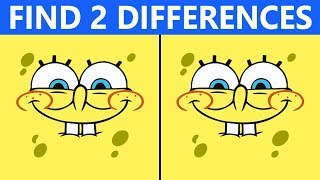 Bet You Can\'t FIND THE DIFFERENCE | 100% FAIL | SpongeBob Picture Puzzle #2