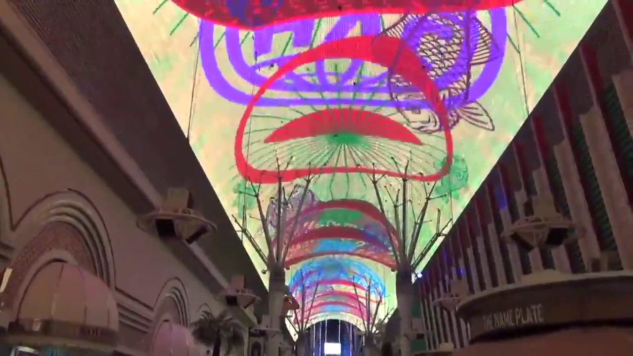 Ceiling Light Show Fremont Street Las Vegas Nv The Zombies Time Of Season