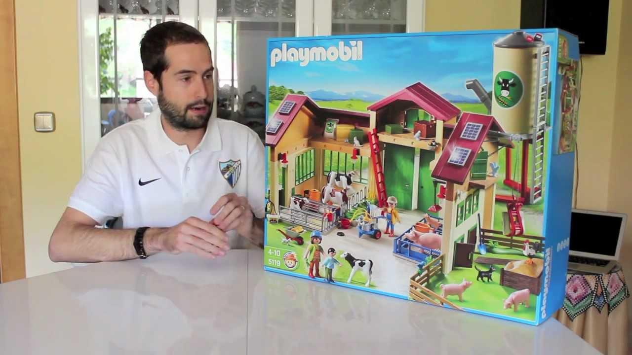 Unboxing playmorubio n 9 5119 granja con silo playmobil for La granja de playmobil precio